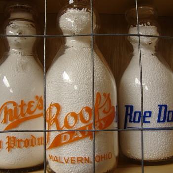 ROOF'S DAIRY..MALVERN OHIO COP THE CREAM MILK BOTTLE - Bottles