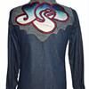 "1970's ANTONIO GUISEPPE Denim Embroidered YES ""Songs"" CUSTOM Rocker Jacket"