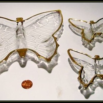 1950's//1960's JEANETTE - Butterfly Glass Dishes (or Jeannette ) - Glassware