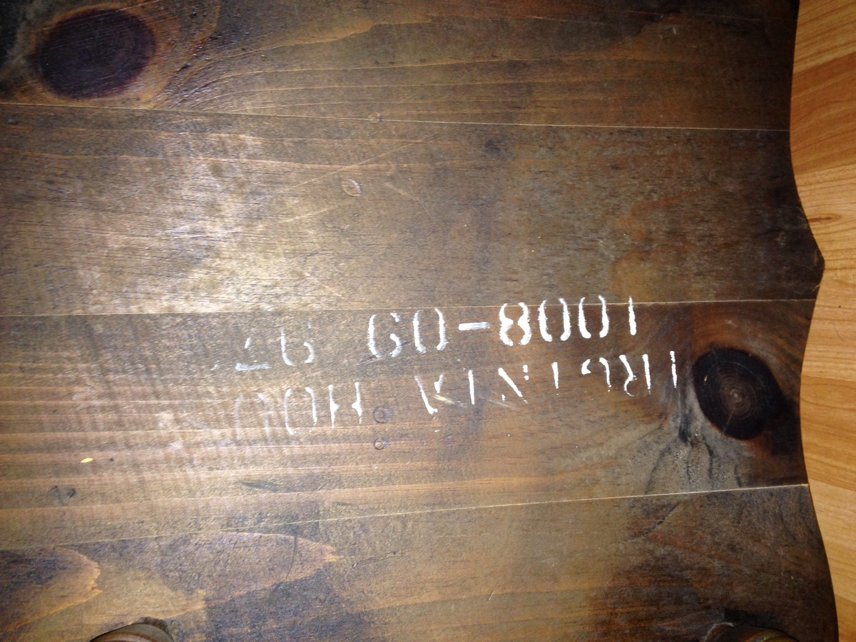 Very solid heavy and sturdy rocking chair stamped virginia house underneath seat collectors weekly
