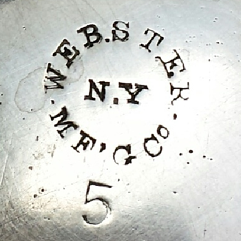 Webster Manufacturing Co. silverplate item - Silver