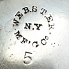 Webster Manufacturing Co. silverplate item