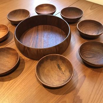 1950's Teak Bowls - Mid-Century Modern