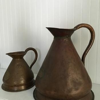 "Copper Haystack Measures Pitchers ""Madras Excise"" - Kitchen"