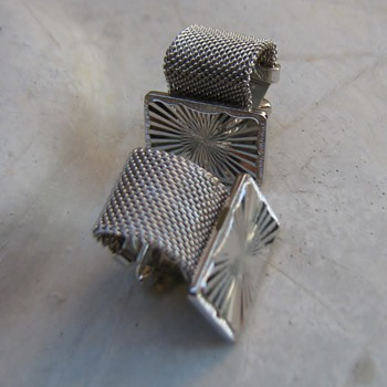 1970's flashy silver cufflinks