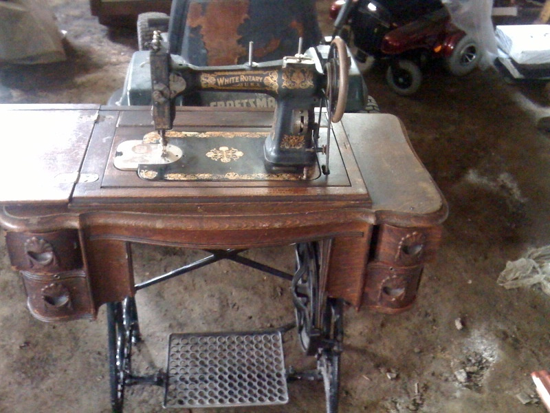 Sewing Machine White Rotary USA Collectors Weekly Inspiration How Much Is My Singer Sewing Machine Worth