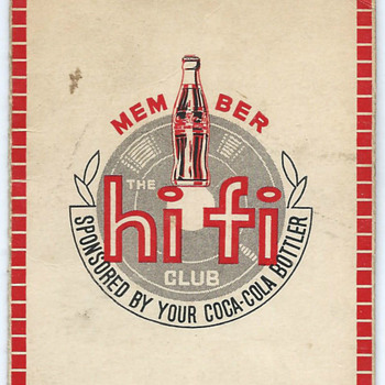 Coca-Cola Hi-Fi Club membership card from Hong Kong - Coca-Cola