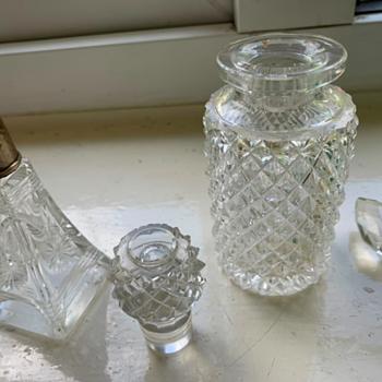 Minature Cut Glass Perfume Bottles ?  - Glassware