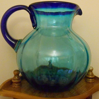 Beautiful Art Glass Pitcher - Glassware