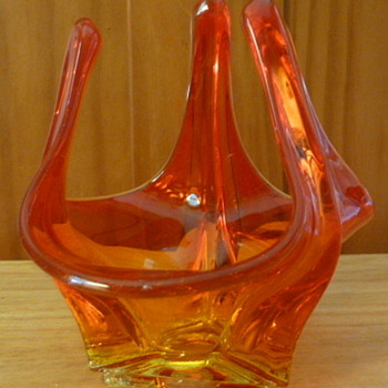 Viking glass swung bowl - Art Glass