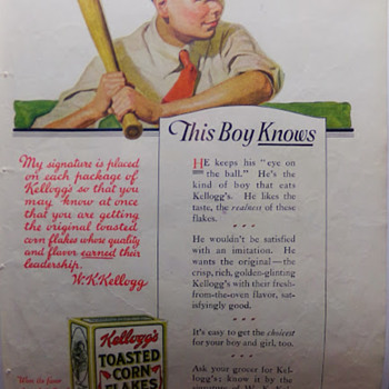 1919 Kellogg's Cereal ad - Advertising