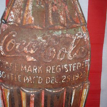 coke bottle sign - Coca-Cola