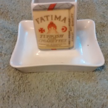 Vintage ashtray advertising Fatima cigarettes  - Tobacciana