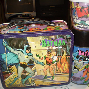 Batman and Robin Lunchbox w/ Thermos & MUG - Kitchen