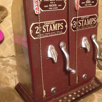 2 & 3 cent Schermack stamp machines - Coin Operated