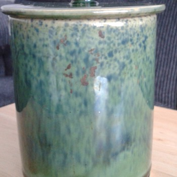 1900 Tea Caddy ? Buchan Waverley stoneware - Art Deco