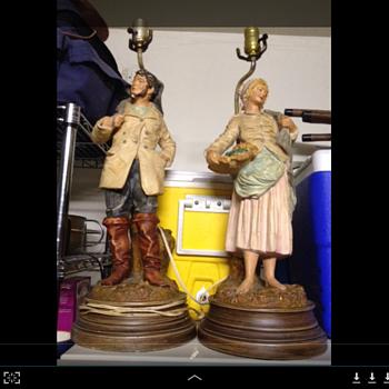 Grandparents vintage lamps