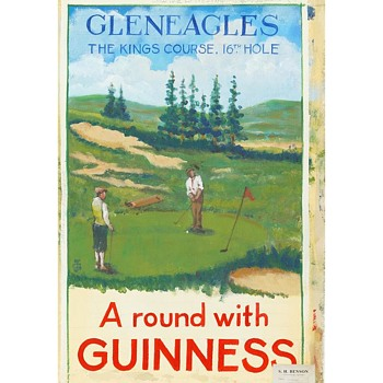 A round with Guinness – 1950 Gleneagles Advertising Study by Gilroy