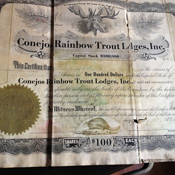 Trying to figure out what these are! Old stock certificates  - Paper