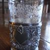 Bohemia crystal beacker with metal stand