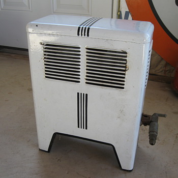 Old Porcelain Space Heater, Gas - Tools and Hardware