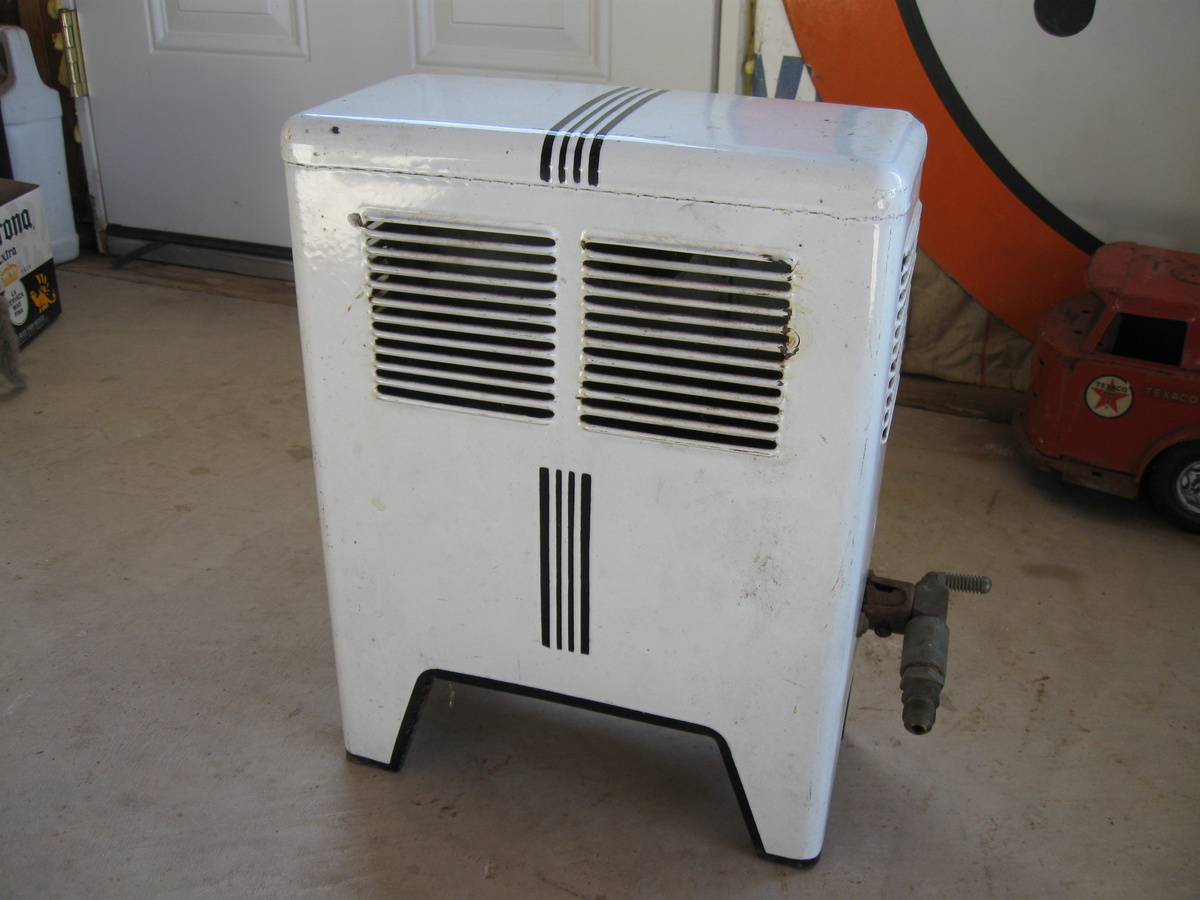 Old Porcelain Space Heater Gas Collectors Weekly
