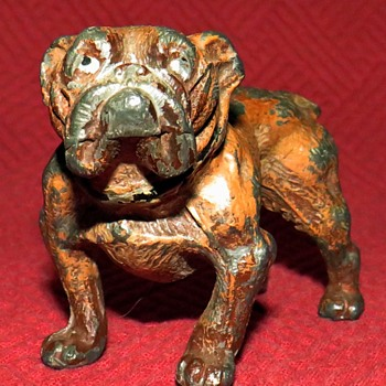 Vintage  Spelter English Bulldog - Animals