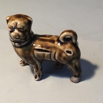 Pottery pug dog - Animals