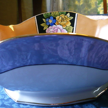 Noritake Export Japanese Lustreware Oval Bowl circa 1924 Pattern Unknown - China and Dinnerware