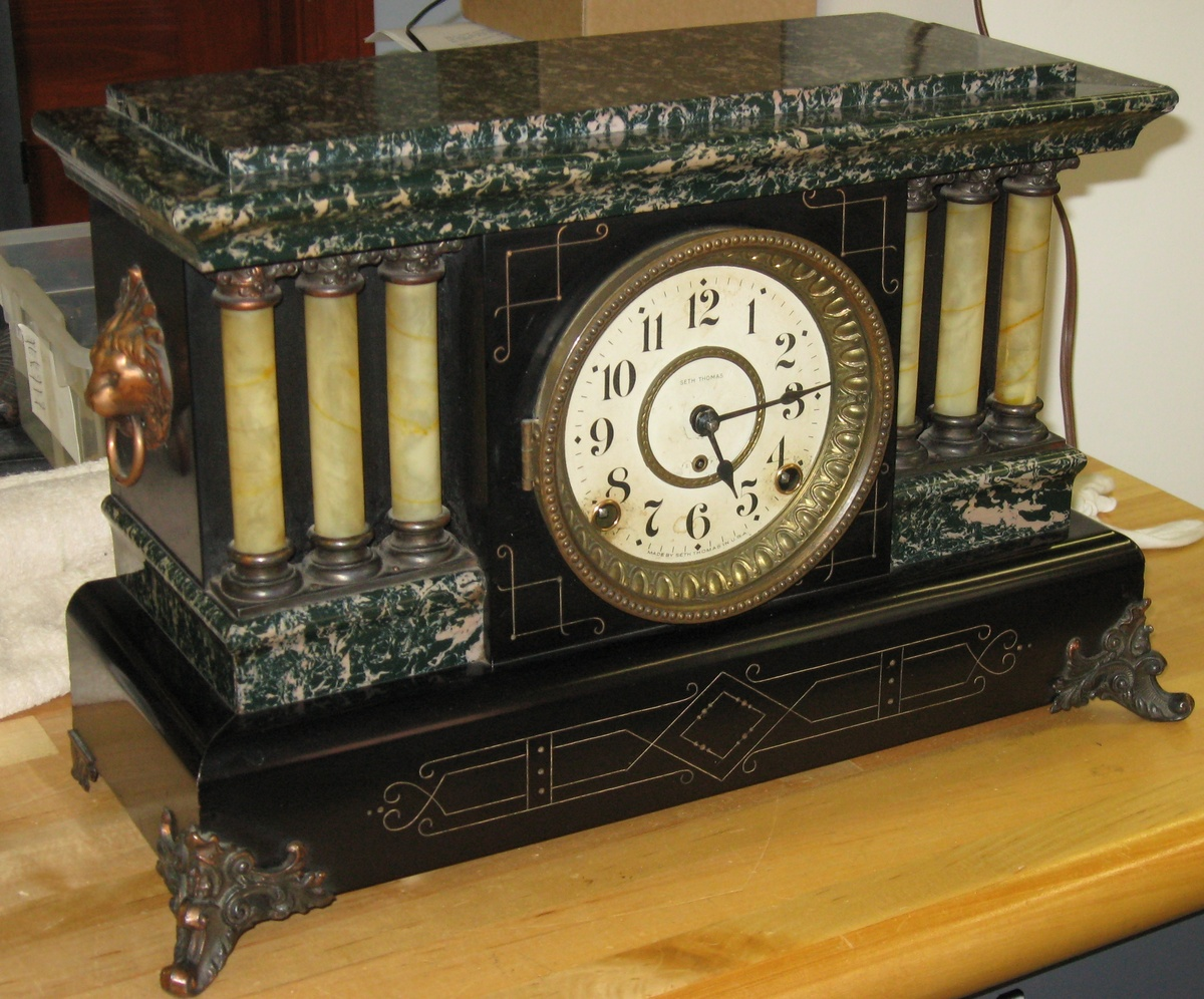 History of Seth Thomas Adamantine Antique Mantel Clocks