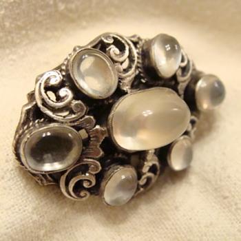 English Moonstone Brooch - Fine Jewelry