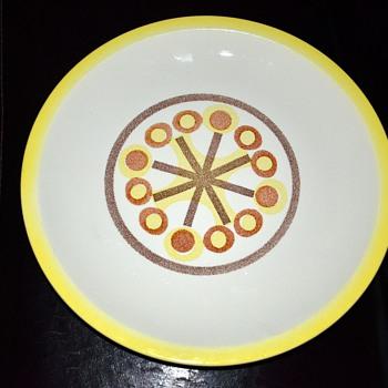 Large Mid-century Platter - unmarked - Mid-Century Modern