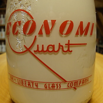 "Liberty Glass Company ""ECONOMI QUART"" Salesman Sample... - Bottles"
