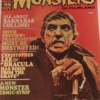 Barnabas Collins Famous Monsters Magazine November 1968 - Paper