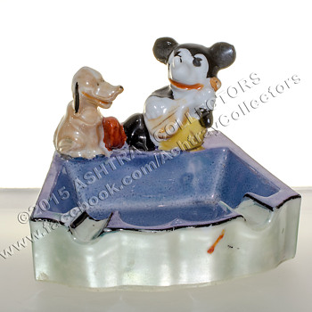 Mickey Mouse Lusterware Ashtray - Tobacciana