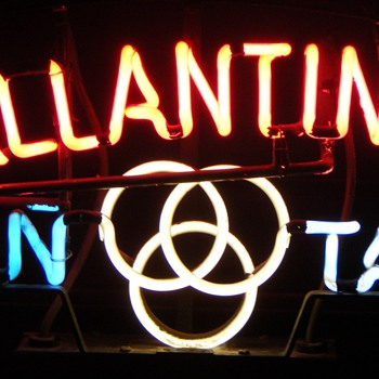 Ballantine On Tap Neon Sign