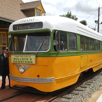 Los Angeles Railway Streetcar 3100 from the OERM - Railroadiana