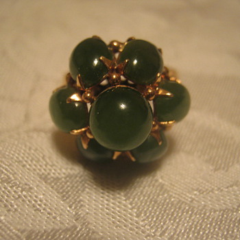 Old Jade & Gold Ring - Fine Jewelry