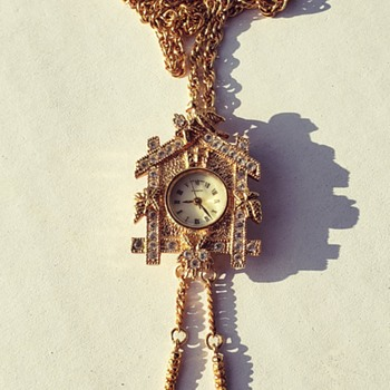 W Lind Clock Pin/Necklace  - Clocks