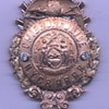 14K gold New York Central & Hudson River Railroad Chief of Police badge with diamonds