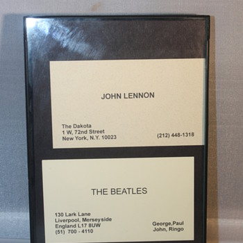 John Lennon and Beatles business cards  - Music Memorabilia