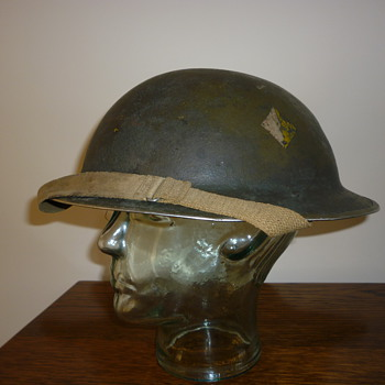 WWII British Cammo Combat steel helmet. - Military and Wartime