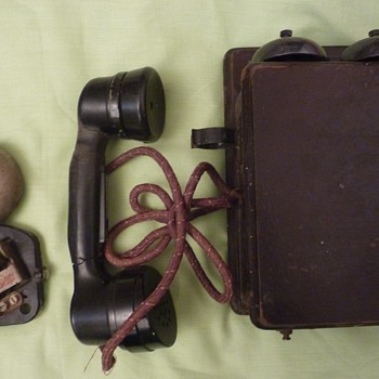 two unidentified old phones  2 - Telephones
