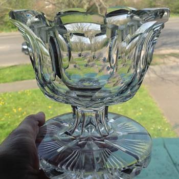 Antique cut glass bowl - Glassware
