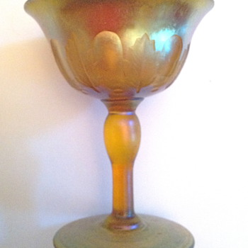 Tiffany Glass Goblet - Art Glass