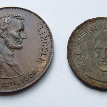 Lincoln Centennial Medal ~ Karl  Heinz-Schnellinger Token