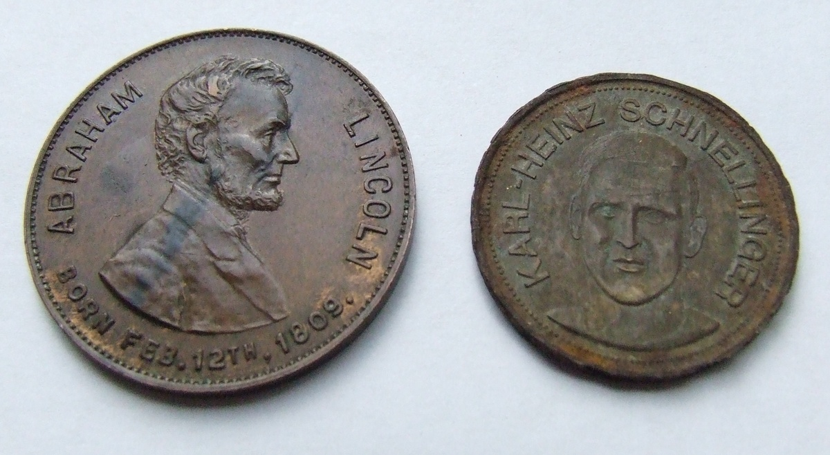 Lincoln Centennial Medal Karl Heinz Schnellinger Token