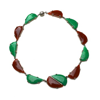 Art Deco Necklace/ Glass - Art Deco