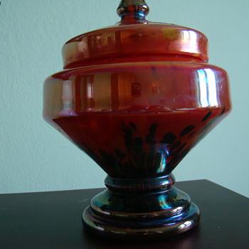 Iris Decor Bohemia  lidded bonboniere - Art Glass
