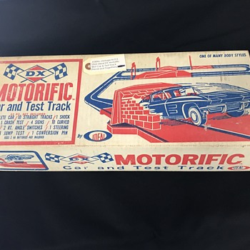 DX   gas  and oil company race track toy  - Advertising